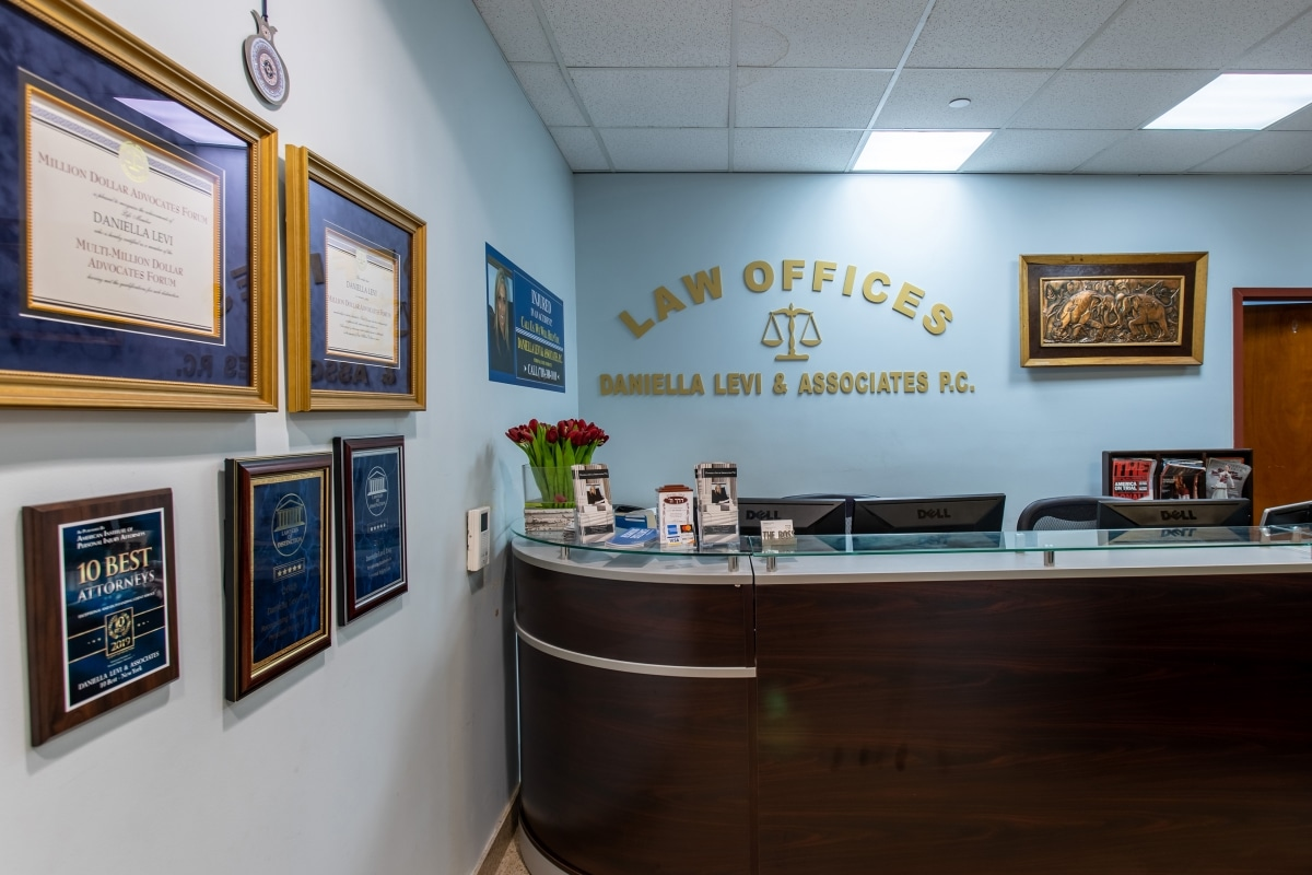 reception area of Queens legal firm