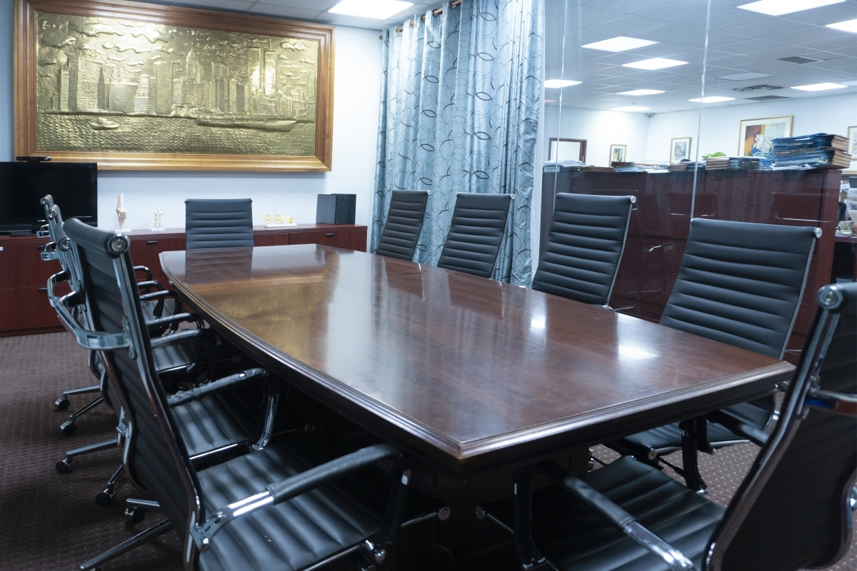 boardroom at law firm in Queens