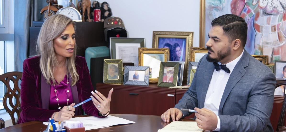 discussing client legal settlement