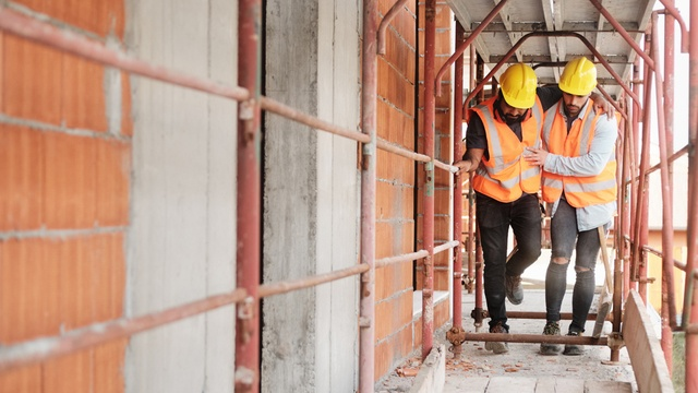 Worker injured on a construction site