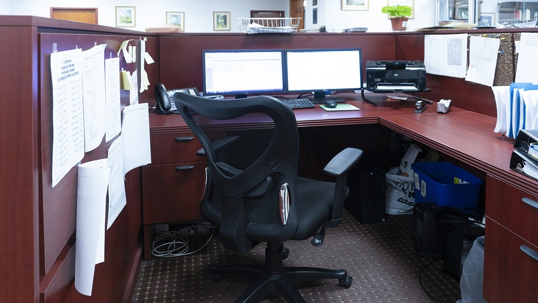 paralegal workstation inside the law firm