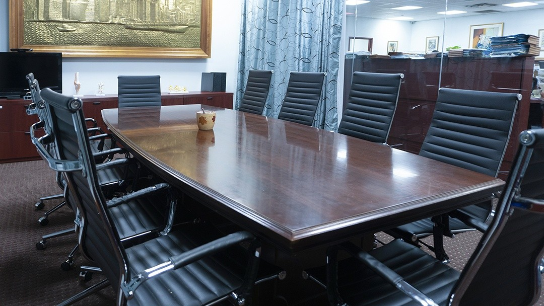 board room inside the law firm's main office