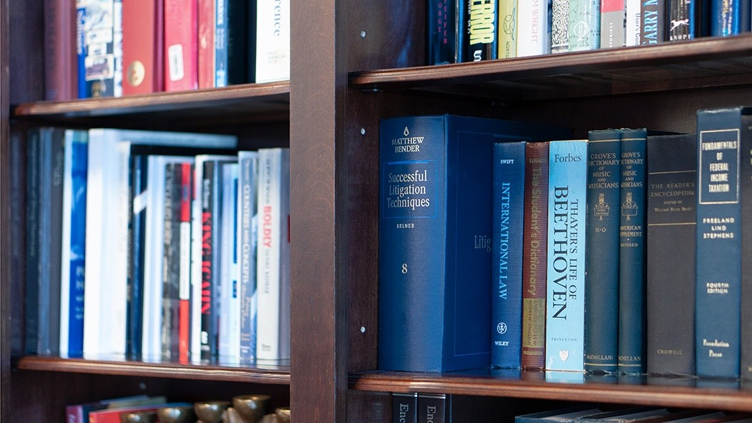 legal reference books used by the law firm
