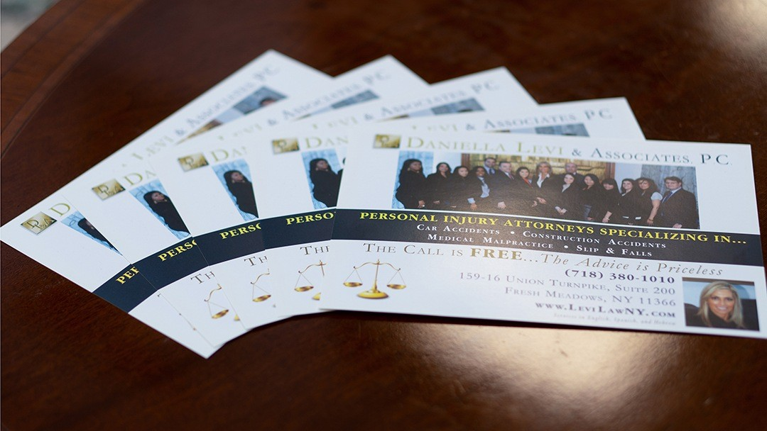 brochures for law firm located in Queens & Bronx